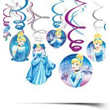 Cinderella Swirl Decorations